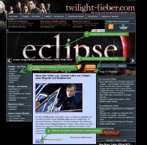Twilight Fanseite - alles neu